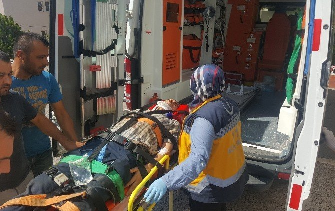 Vincin üzerinden düşen işçi ağır yaralandı