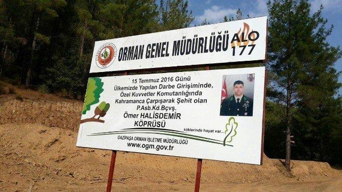 Kahraman Şehit Halisdemir'in ismi köprüde yaşayacak