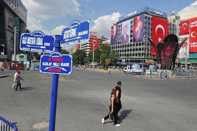 Kızılay Meydanı'nın adı '15 Temmuz Kızılay Milli İrade Meydanı' oldu