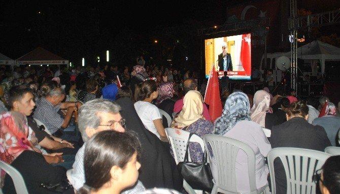 Aydın'da son 'demokrasi nöbeti' coşku içinde geçti