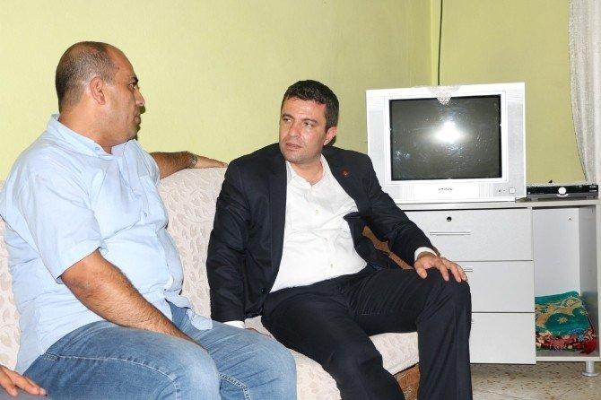 Demokrasi şehitlerinin evi ziyaret edildi