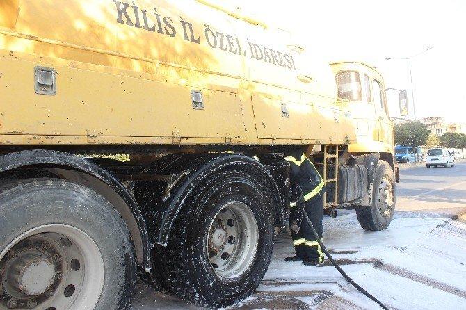 Kilis'te patlama sesi paniğe yol açtı