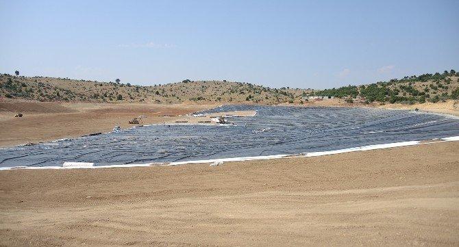 Konya'da ilk kez membran kaplama sulama göleti