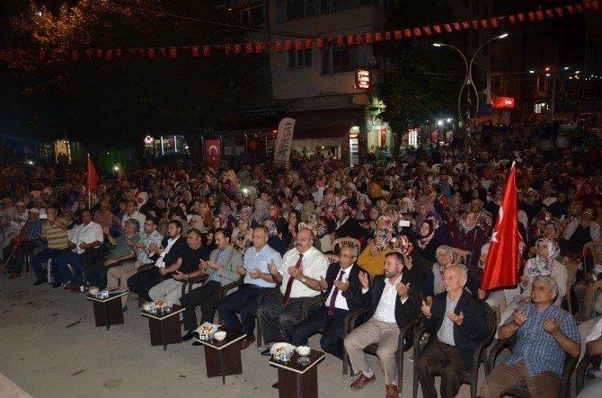 Mahmut Demir demokrasi nöbetinde konuştu
