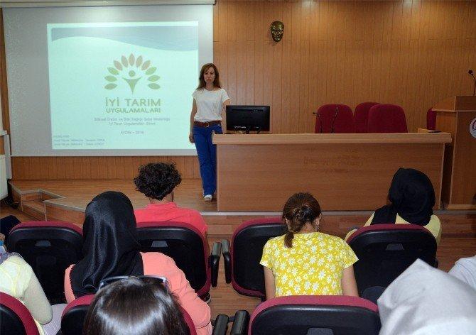 Üniversite öğrencileri uygulamalı tarımı öğrendi
