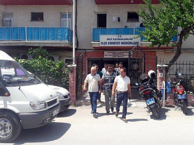 Mut'ta FETÖ operasyonunda gözaltına alınan 5 kişiden 3'ü tutuklandı
