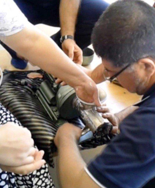 Elini kaptırdığı kıyma makinesiyle hastaneye kaldırıldı