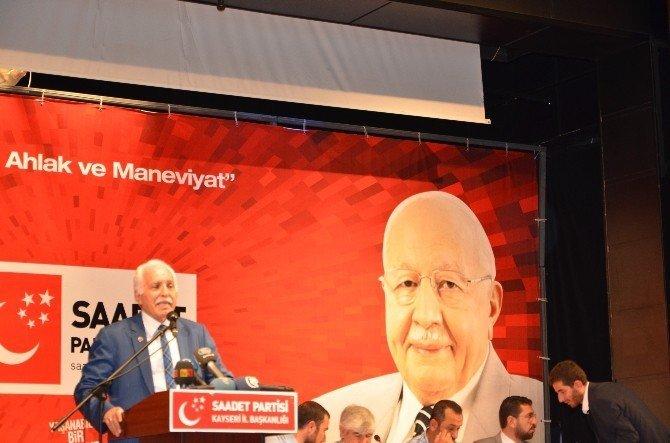 """SP Genel Başkanı Mustafa Kamalak: """"Gelin yaşanabilir bir Türkiye kuralım"""""""