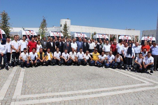 Konya'da, 19 Ambulans 112 Acil Sağlık Hizmetleri bünyesine katıldı
