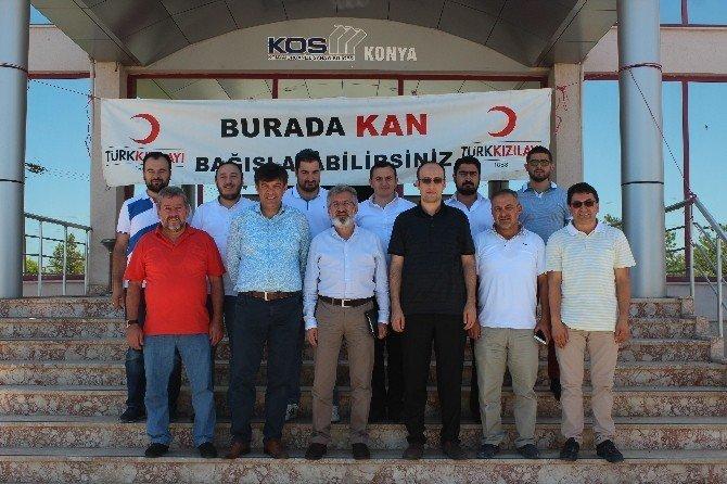 MÜSİAD Konya Şubesi'nden kan bağışına destek