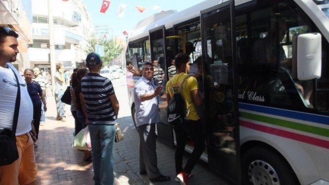 Burhaniye'de minibüsler denetim altında