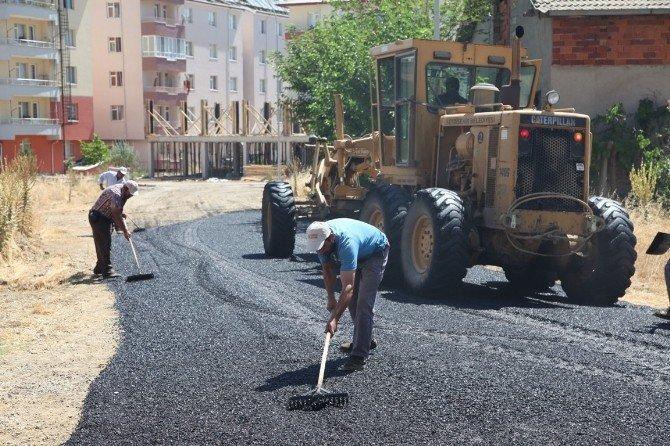 Seydişehir'de sıcak asfalt çalışması