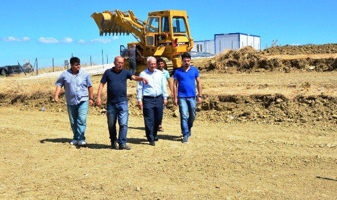 Lapseki'de atık su arıtma tesisi çalışmaları başladı