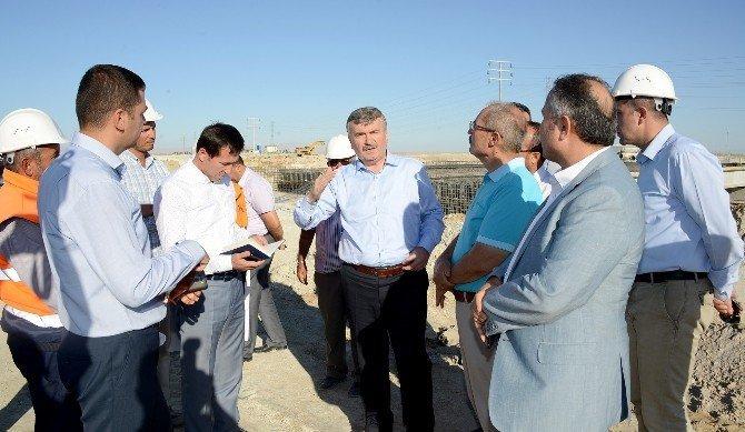 Aksaray yoluna Organize Sanayi Köprülü Kavşağı yapılıyor