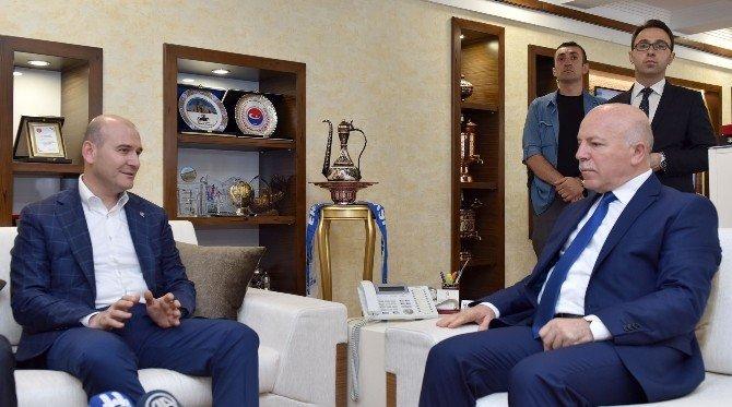 Bakan Soylu'dan Başkan Sekmen'e övgü