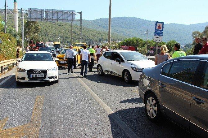 Bodrum'da trafik kazası 2 yaralı