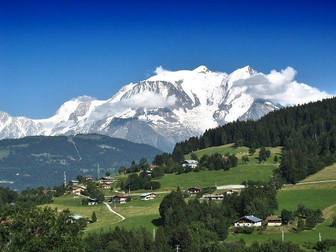 Ordulu dağcılar Mont Blanc yolunda
