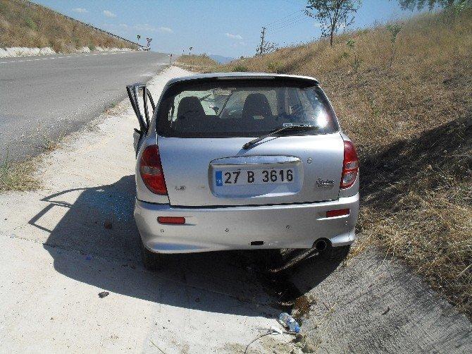 Osmaneli de iki otomobil kafa kafaya çarpıştı: 6 yaralı