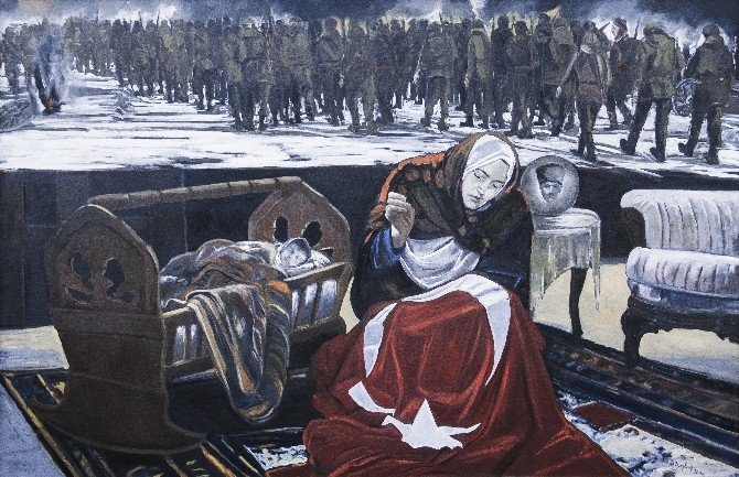 UNESCO'nun 2016 Hoca Ahmet Yesevi yılı anısına '63' isimli portre resmedildi