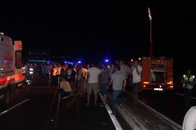 Aydın'da zincirleme kaza: 1 ölü 1'i ağır 10 yaralı