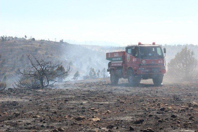 Karaman'da 15 hektarlık orman kül oldu
