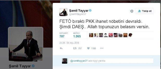 Şamil Tayyar DEAŞ Terör örgütünü işaret etti: Allah topunuzun...