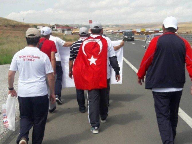 Erdoğan ile görüşmek için yaya olarak 100 kilometre yol kat ettiler