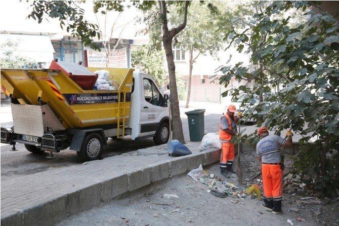 Küçükçekmece Belediyesi'nden bayram temizliği