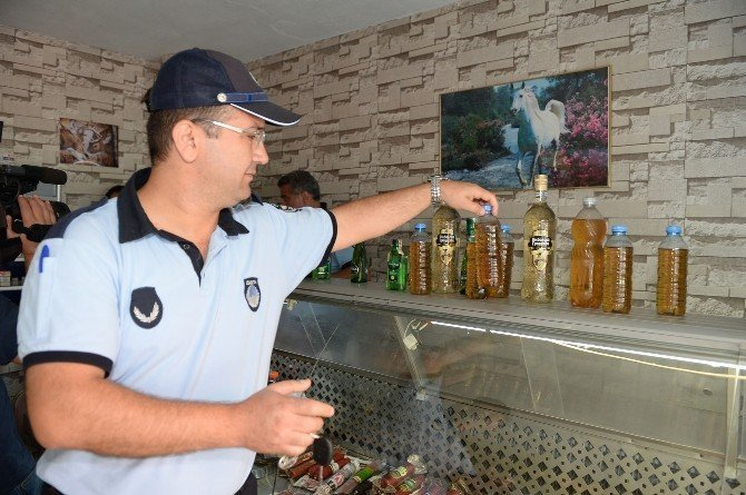 Bursa'da zabıtadan sahte içki operasyonu