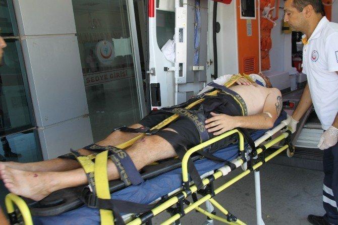 Didim'deki kazada sürücü ölümden döndü