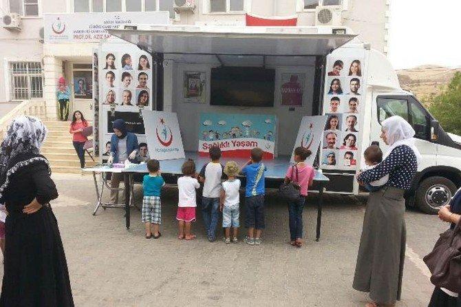 Mardin'de sağlıklı yaşam aracı hizmet vermeye devam ediyor
