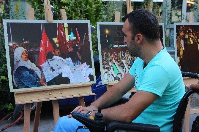 Konya'da fotoğraflarla milli irade nöbetleri