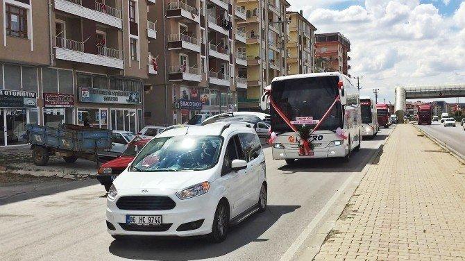 Böyle olur otobüs şoförünün gelin arabası
