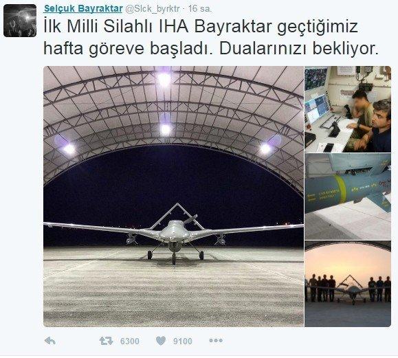 Erdoğan'ın damadından Ömer Halisdemir'li İHA paylaşımı