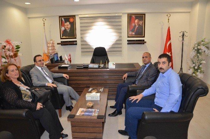 Vali Çataklı'dan, Saadet Partisi ve AK Parti'ye ziyaret