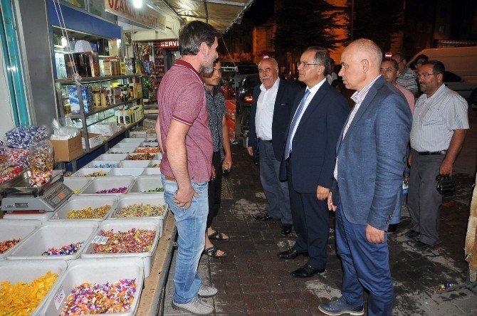 Vali Tapsız'dan esnaf ziyareti