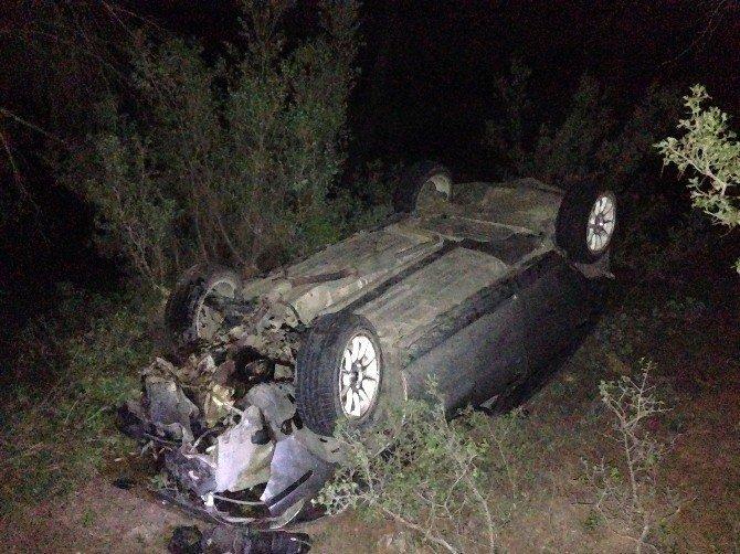 Domuza çarpmamak için kaza yaptı: 7 Yaralı