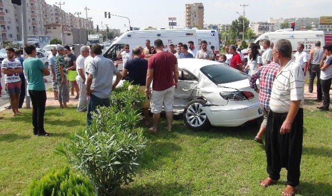 Mersin'de trafik kazası: 4'ü ağır 9 yaralı