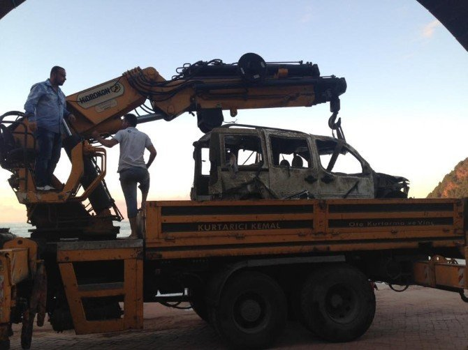 Bartın'da Denize Sürüklenen Araç 34 Gün Sonra Çıkarıldı