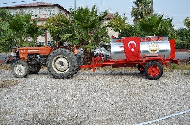 Adana ve Osmaniye'de çok amaçlı su tankeri dağıtıldı