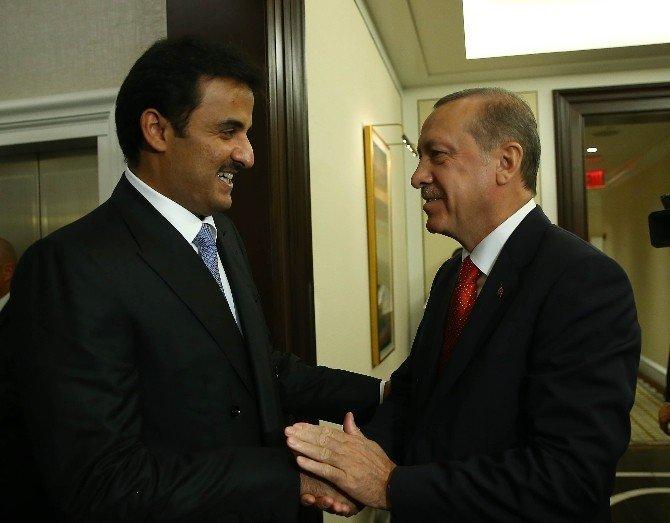 Cumhurbaşkanı Erdoğan Katar Emiri El Sani ile görüştü
