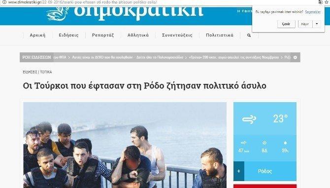 Rodos'a sığınmak isteyen FETÖ'cüler tutuklandı
