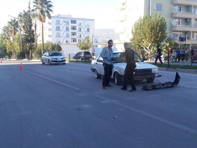 Mut'ta seyir halindeki araç tarandı: 5 yaralı