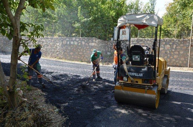 164 bin 418 ton sıcak asfalt serimi yapıldı
