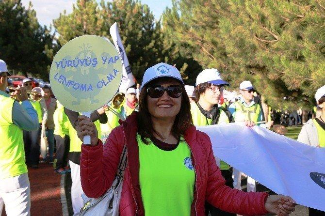 Başkent'te lenfomaya karşı farkındalık yürüyüşü