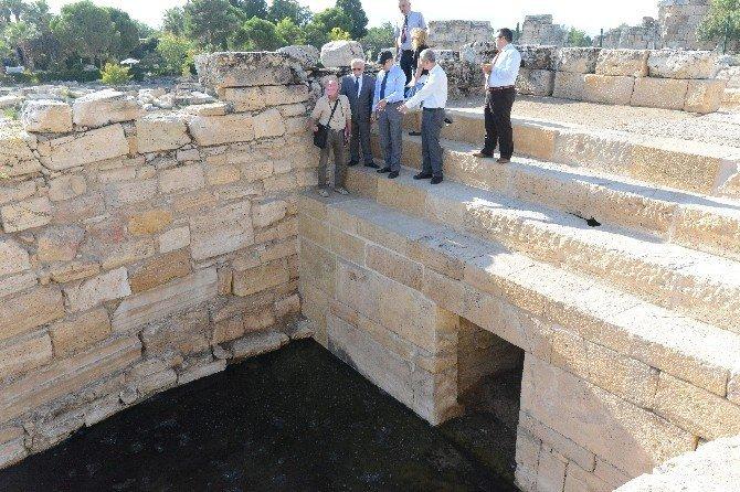 Vali Altıparmak' Pamukkale'de incelemelerde bulundu