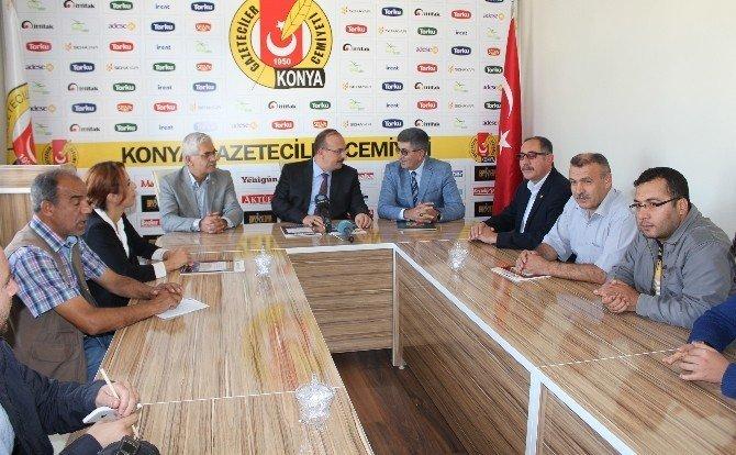 Vali Canbolat, Gazeteciler Cemiyeti'ni ziyaret etti
