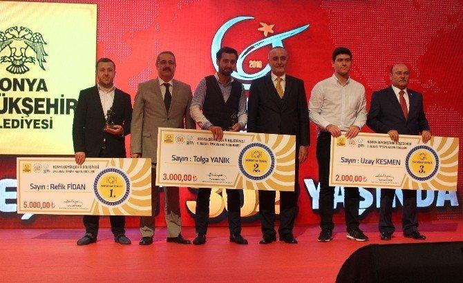 Konya itfaiyesi basın ödüllerinde birincilik ödülü İHA'nın