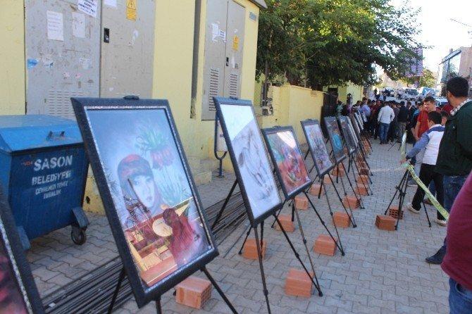 Sason Çarşısı'nda fotoğraf sergisi açıldı