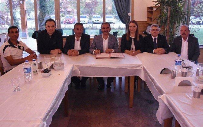 Seydişehir'de voleybolda iş birliği